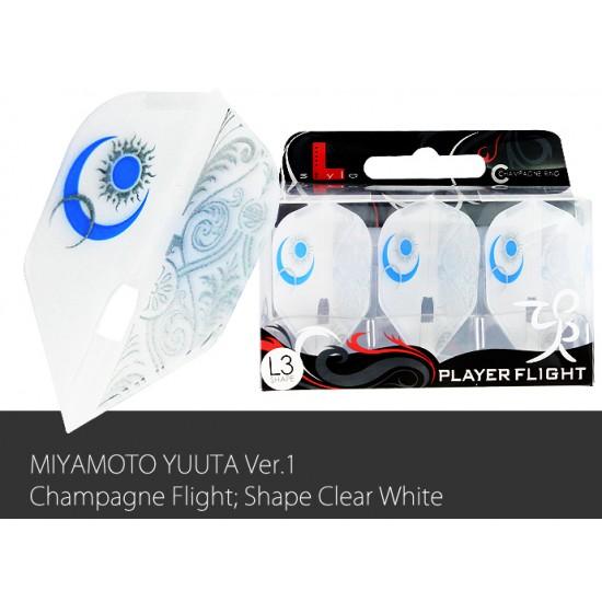 Yuta v1 Clear White Flight L (Shape)
